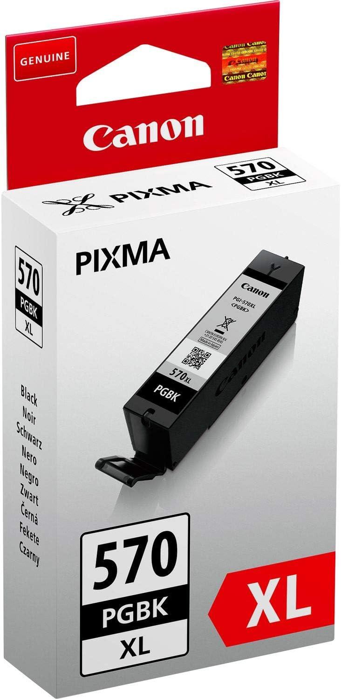 Canon Tintenpatrone Pgi 570 Xl Pgbk Schwarz Black 22 Ml Für Pixma Drucker Original Bürobedarf Schreibwaren
