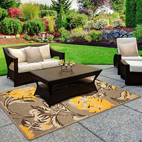 Laura Ashley Hydrangea 4 x 6' Indoor/Outdoor Rug (Outdoor Only Rugs)