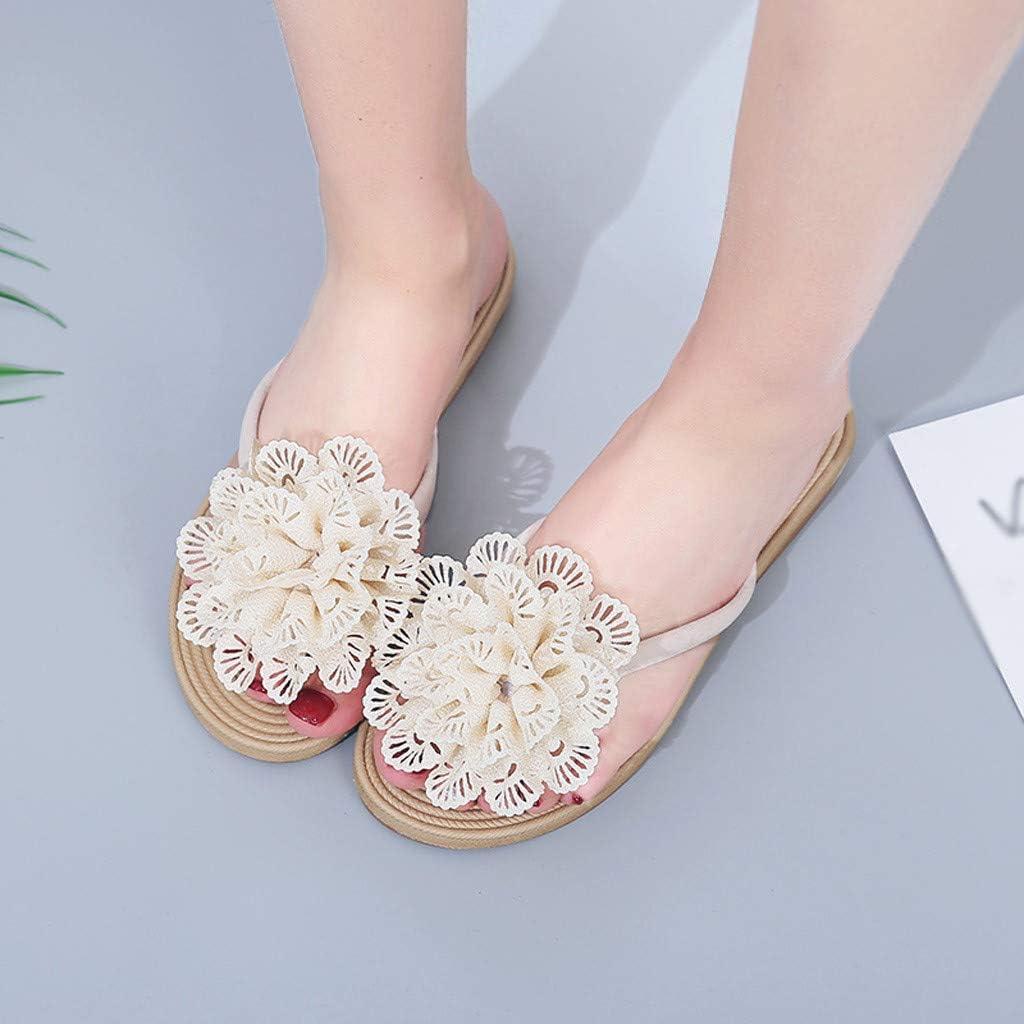 Alaso Tongs Plateforme Sandales Et/é Femme Fille Talon Plates Flip Flops Chaussures de Plage Boh/ème Pantoufles Claquettes Pas Cher Chic