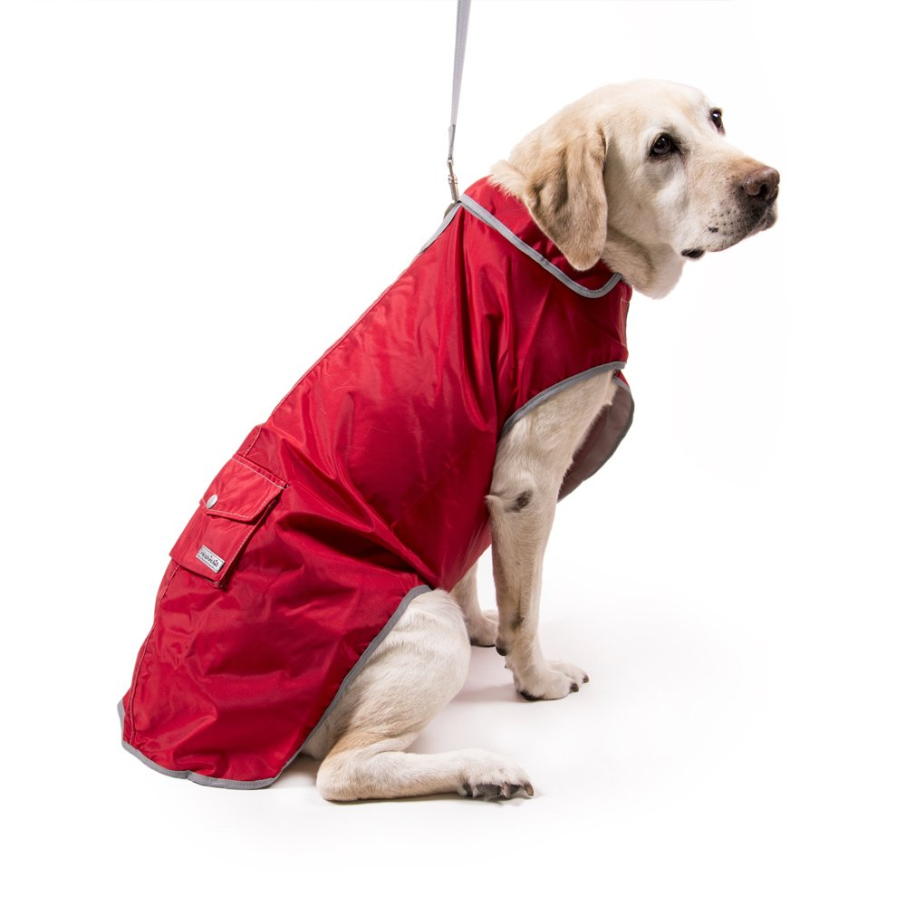 My Canine Kids Precision Fit Rain Slicker Large-red by My Canine Kids (Image #1)
