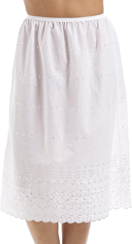 Jupon de Style Classique avec Broderies Camille 66 cm Blanc