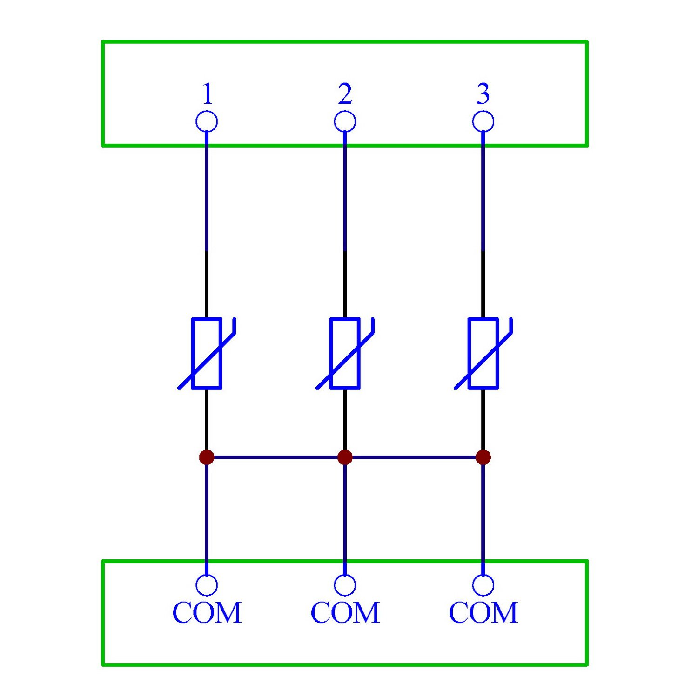 Surge Suppressor Protection SPD Board. Chunzehui 3 Channels Common 275V SIOV Metal Oxide Varistor Interface Module