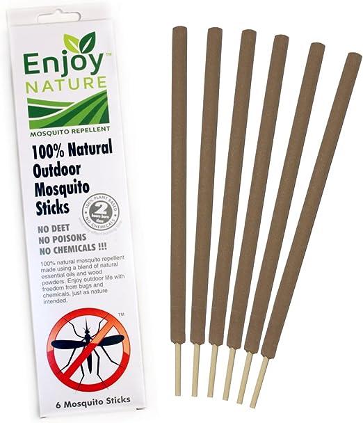 Al aire libre 100% natural repelente de mosquitos Stick ...