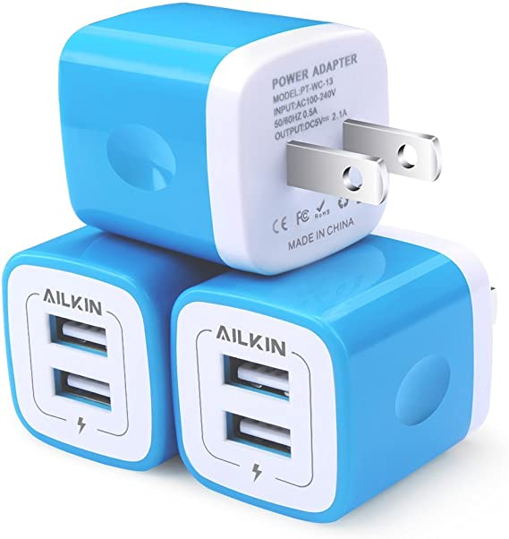 4x USB Wall Charger Cube Plug for iPad Series Air Mini iPhone 4 5 6 6s plus iPod