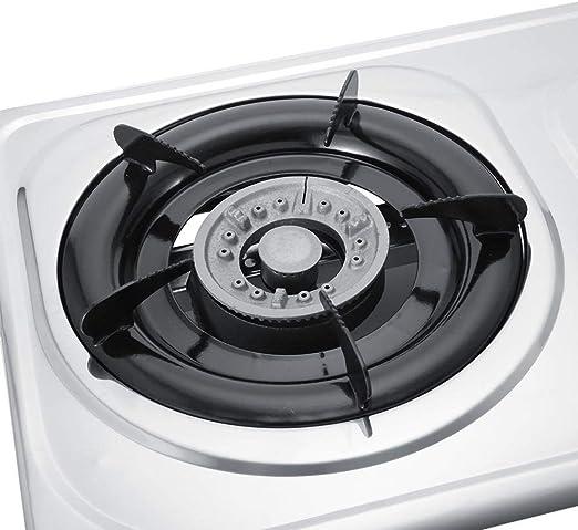 Zerone Hornillo a Gas,Cocina de Gas con 3 Quemadores de Acero Inoxidable