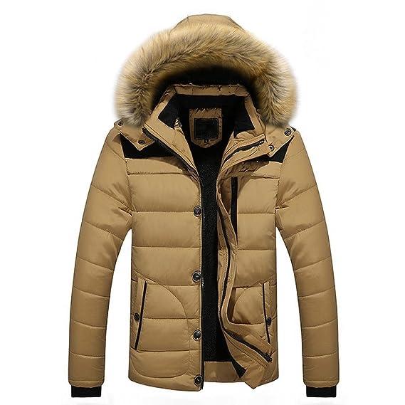 Mamum Mens Heavy Weight Fur Hood Parka Padded Waterproof Winter Thick Jacket  Plus Fur Hooded Coat 86e327ad5a6