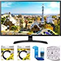 """LG 32"""" 3840x2160 Ultra HD 4k LED Monitor (32UD59-B) with 2x 6ft High Speed HDMI Cable Black, Universal Screen Cleaner for LED TVs & SurgePro 6 NT 750 Joule 6-Outlet Surge Adapter with Night Light"""