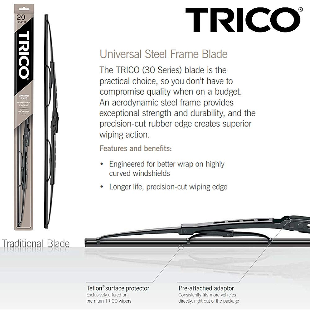 Amazon.com: Wiper Blades for 2014 Honda Accord Driver & Passenger Trico Steel Wipers Set of 2 Bundled with Bonus MicroFiber Interior Car Cloth: Automotive