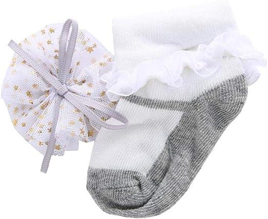 Trifycore La niña de Ropa Botiquín de Primeros Auxilios Infantil del bebé de Las Colmenas del cordón de Calcetines de la niña del Arco del algodón Calcetines para recién Nacido del niño