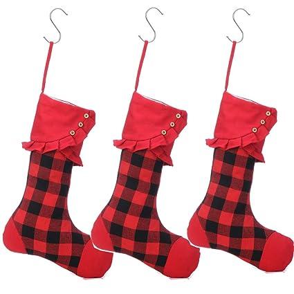 Buffalo Check Christmas Decor.Buffalo Plaid Christmas Stockings Buffalo Check Christmas Decorations Red Buffalo Plaid 3pieces