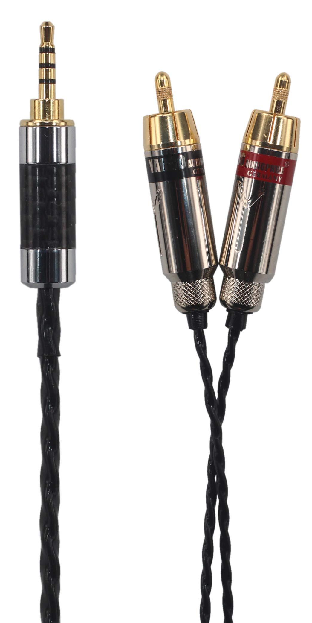 KK Cable RI-SY HiFi 2.5mm TRRS Balanced Male to 2-Male RCA Audio Cable for Ak240, Ak380, Ak320, DP-X1A, iBasso DX200, KANN etc. RI-SY (4.9ft (1.5M))