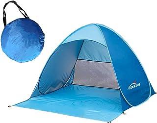 Pop Up Tente de plage, Oxking automatique légère portable pliable Camping tentes anti UV UPF 50+ pare-soleil pour camping pêche pique-nique avec un sac de transport bleu