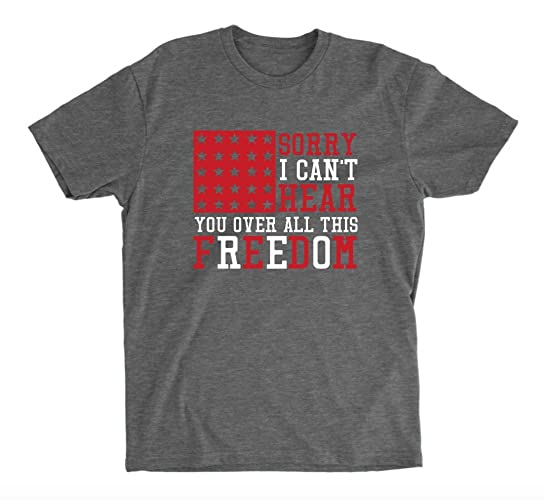 e1a27e70e21ea Amazon.com  4th of July T-shirt - Deep Heather Grey Unisex T-shirt ...