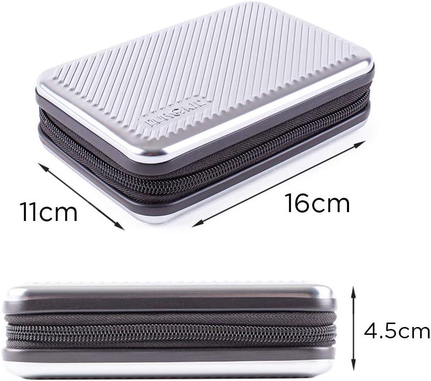 Housse pour disques durs externes Argent/é GPS liseuse Duronic HDC3 SR /étui de Protection Rigide pour Disque Dur Aluminium Antichoc 11 x 16 cm L/éger et Compact Batterie Portable