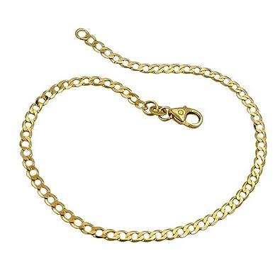 ASS or 585 pour femme collier gourmette pour homme chaîne à mailles 4 mm 50  cm 346430291020
