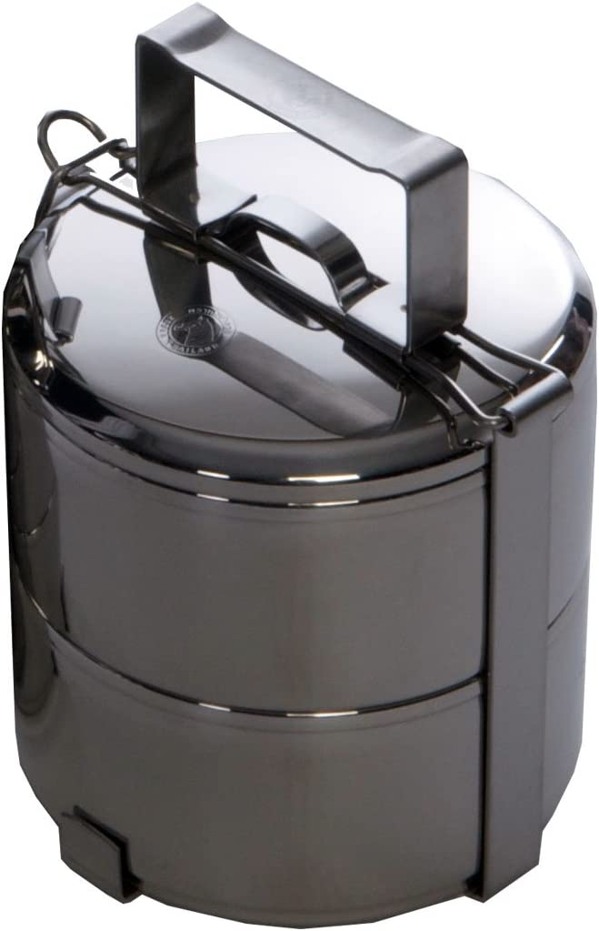 Zebra Two-tier Tiffin Box and Food Carrier (12 cm)