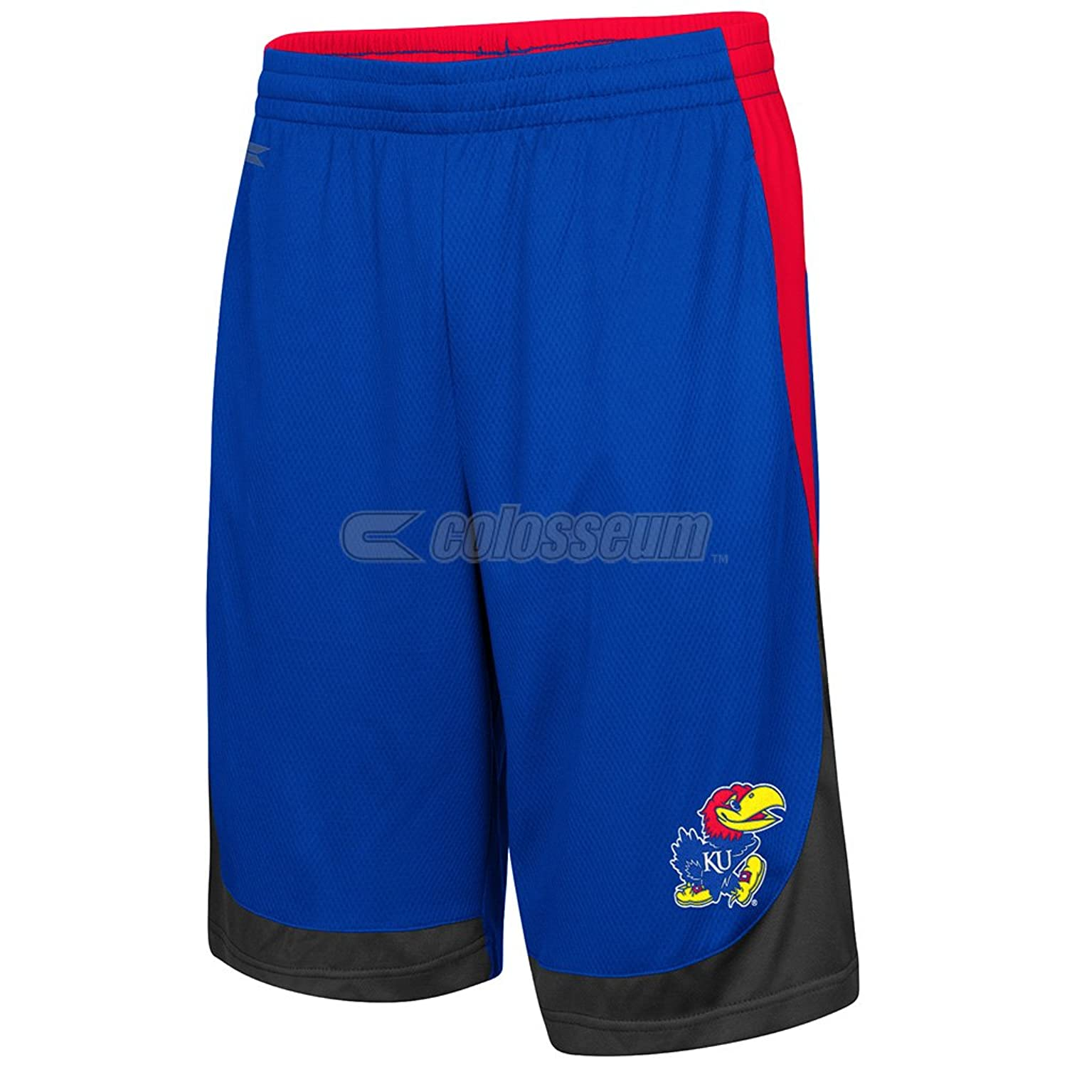 Cheap Colosseum Kansas Jayhawks Blue Hall Of Fame Youth Shorts for cheap