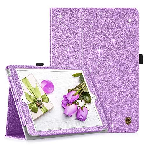 iPad 9.7 2018 case, iPad 9.7 2017 Case,iPad Air 2 Case,iPad Air Case,BENTOBEN Glitter Folio Folding Stand Smart Auto Wake/Sleep Faux Leather Protective Case for iPad 9.7 2018/iPad 9.7 Inch 2017 Purple
