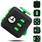 EpochAir Fidget Cube Prime Anti-Stress/Anti-anxiety Fidget Toys for EDC, ADHD, Children, Teens, Student and Adults Dice Stress Reliever Cube (Green)