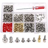 Glarks 660-Pieces Phillips Head Computer PC Spacer Screws Assortment Kit for Hard Drive Computer Case Motherboard fan power graphics (Extra: Phillips Screwdriver)
