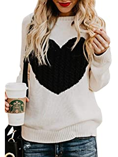 b68a24c27b9 Minetom Pull Femme Hiver Automne Chaud Sweater Col Rond Tops Jumper Tricot  Pull-Over Mode