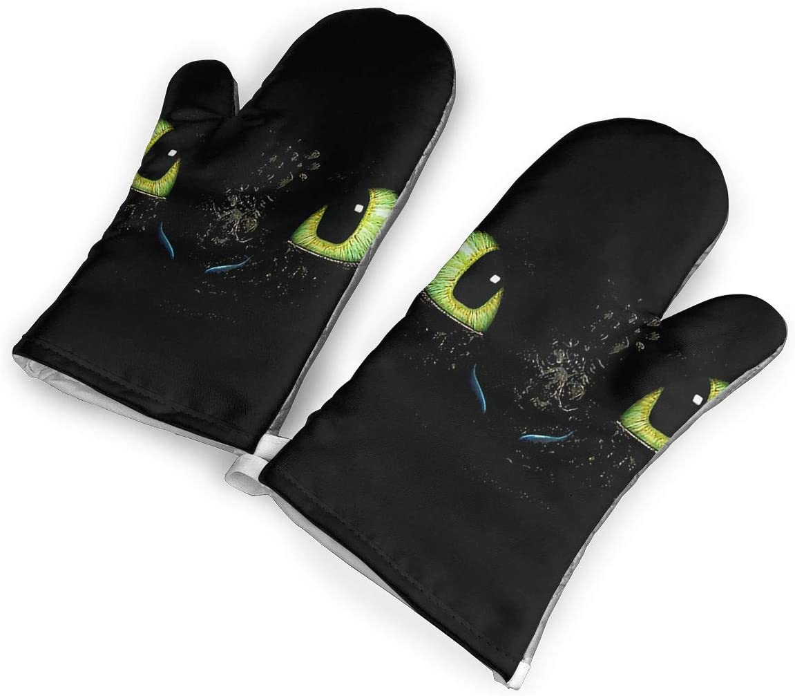 How to Train Your Dragon Toothless Oven Gloves,Non-Slip Easy to Use Oven Mitts for Cooking,1Pair