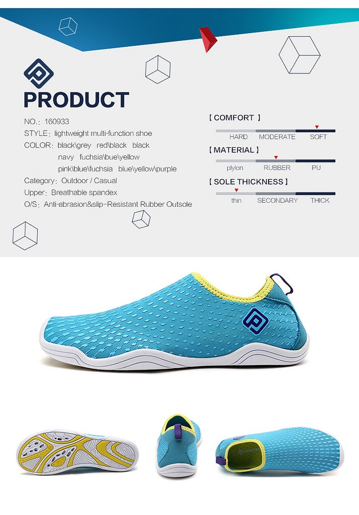 DREAM PAIRS Quick-Dry Water Shoes Sports Walking Casual Sneakers for Women B01N65GP4R 12 M US|Black