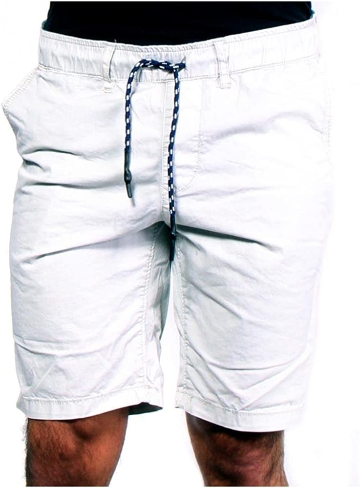"Jet Lag Men's Pocket Decor 10"" Flat Front Short with Rib Waist and String"