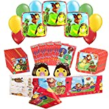 Wonder Pets Party Pack Including Table cover,Plates, Napkins,Treat Bags and Balloons 58pc