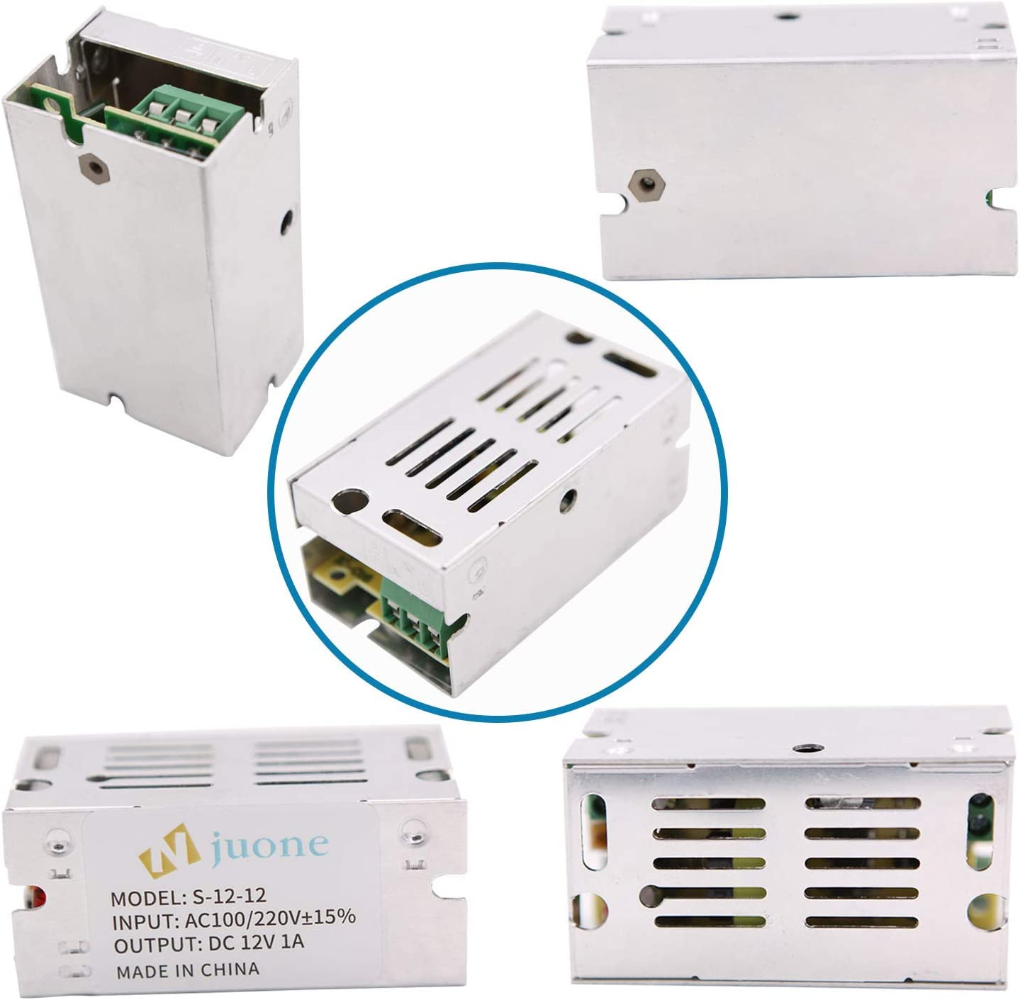 Njuone Power Transformer 110V//220V AC to DC 12V 1A 12W Switch Power Supply Driver for Security monitoring//LED display//LED Strip Light
