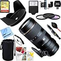 Tamron AFA009S-700 SP 70-200mm F/2.8 DI USD Telephoto Zoom Lens For SONY w/6-Year USA Warranty + 64GB Ultimate Filter & Flash Photography Bundle