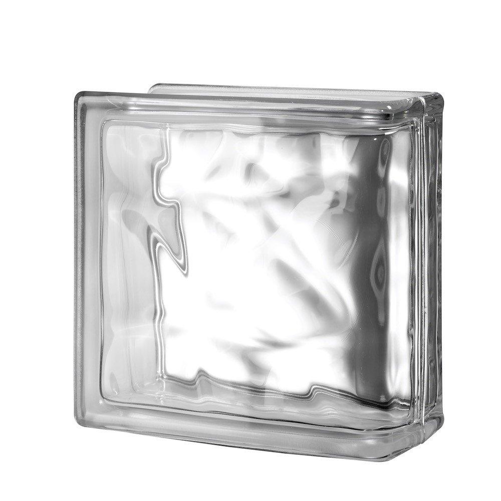8x8x4 Nubio End Block by Quality Glass Block
