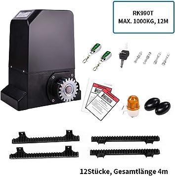 Topens - Mecanismo de puerta corredera con mando a distancia, apertura automática para puerta de patio y garaje, incluye 2 mandos. 370.00W: Amazon.es: Bricolaje y herramientas