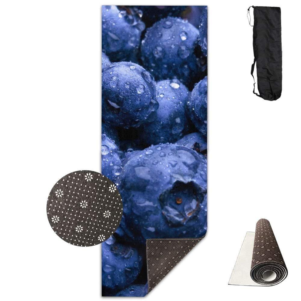 Fruit blueee blueeeberry Deluxe Yoga Mat Aerobic Exercise Pilates
