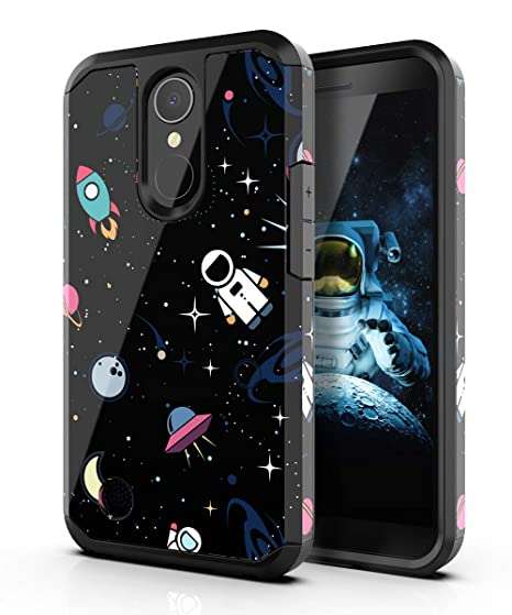 buy popular d5116 73a58 PBRO LG K20 Plus Case,LG K20 V Case,LG Harmony Case,LG K20 Case,LG Grace  Case,Cute Astronaut Case Dual Layer Soft Silicone & Hard Back Cover Heavy  ...