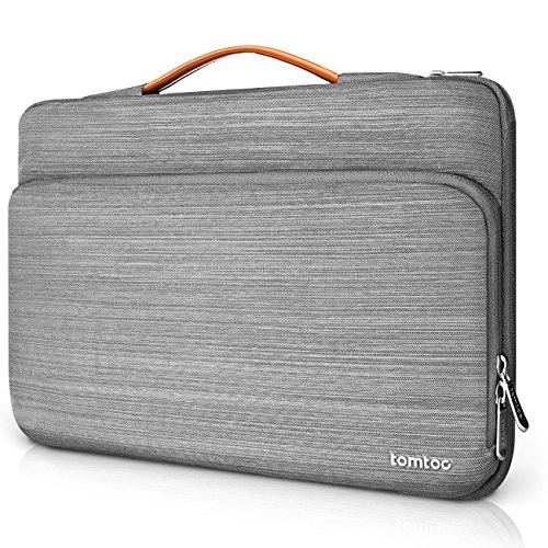 Tomtoc Microsoft Surface Pro 4/3/2/1 Briefcase Sleeve Carrying Protector Handbag for Most 11.6 Inch Laptop Ultrabook Notebook Tablet, Spill-Resistant, Gray