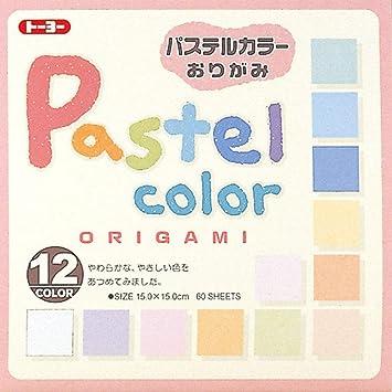 Amazon.com: Toyo Origami, color 15 cm x 15 cm 12 colores ...