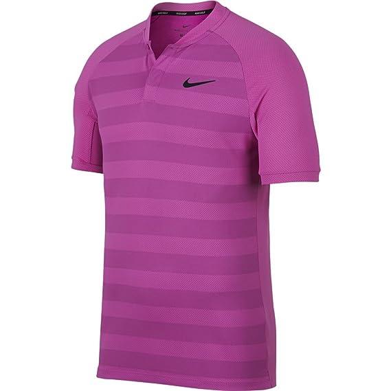 86958f67 Amazon.com: Nike New Zonal Cooling Stripe Momentum Golf Polo: Sports &  Outdoors
