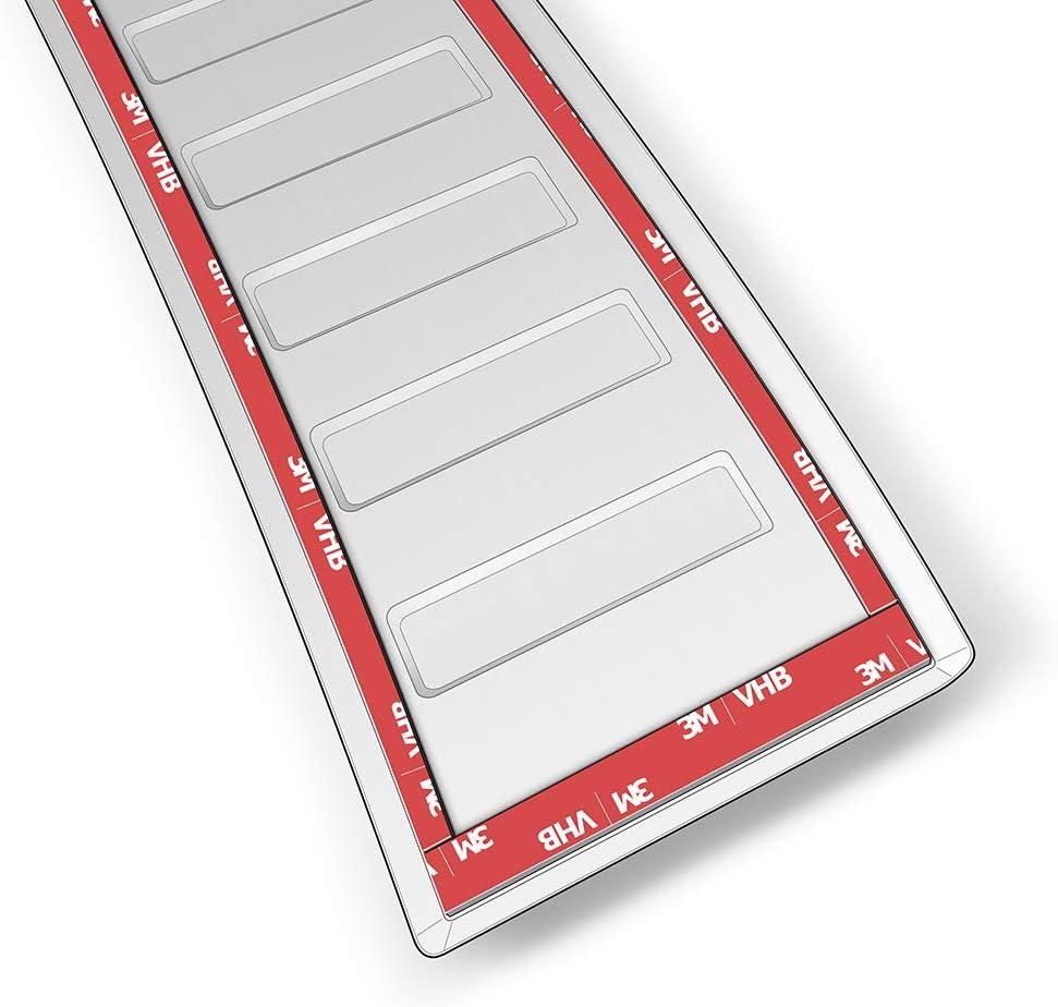 teileplus24 AL115 Ladekantenschutz aus technischem Vollaluminium mit 3D Pr/ägungen und Abkantung Farbe:Silber fahrzeugspezifische Passform einfache Montage