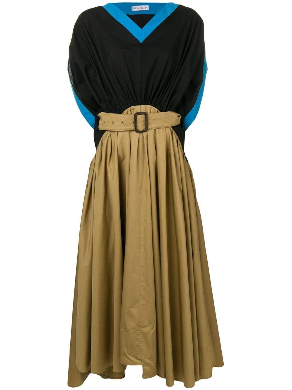 J.W. Anderson Women's DR07719A166165 Green Cotton Dress