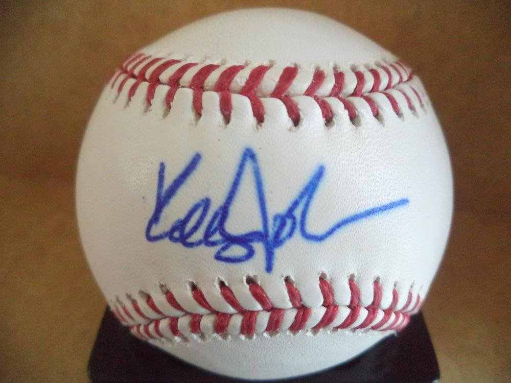 Kelly Johnson Signed Ball - Yankees Braves M l W coa - Autographed Baseballs All Star Cards and Collectibles