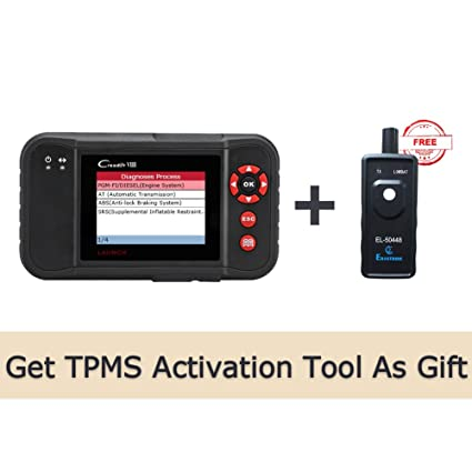 LAUNCH Creader VIII OBD2 Scan Tool Automotive Scanner for  ENG/at/ABS/SRS/EPB/SAS/Oil Service Light Resets + Auto Tire Pressure  Monitor Sensor