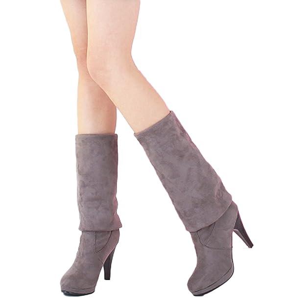 Nonbrand Damen Stiletto-Absatz synthetischer über Knie Stiefel: Amazon.de:  Schuhe & Handtaschen
