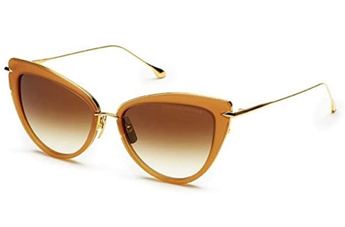 04384c9543c2 Amazon.com  Dita Heartbreaker 22027-C-BRN-GLD-56-Z Sunglasses Light Brown  Crystal-18K Gold 56mm  Clothing