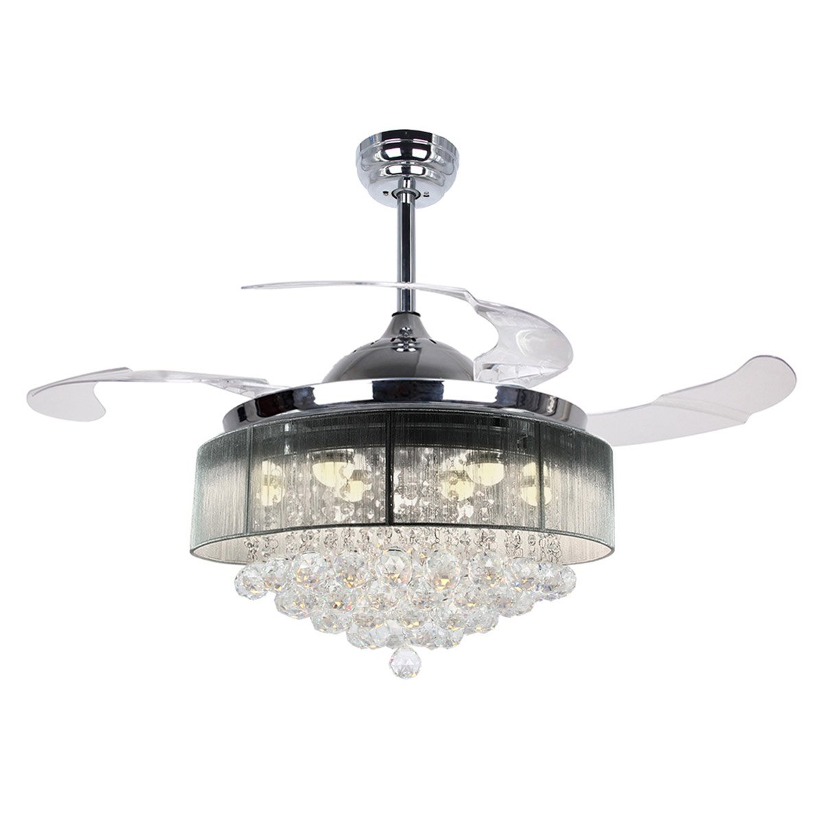 Parrot uncle ceiling fans with lights 42 modern led ceiling fan parrot uncle ceiling fans with lights 42 modern led ceiling fan retractable blades crystal chandelier fan with remote control 2700k warm white arubaitofo Images