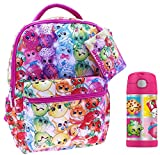 Shopkins Back to School 3 Pc Set with Backpack, Carry Case, and Thermos Bottle