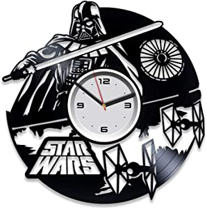 Kovides Darth Vader Vinyl Clock Star Wars Vinyl Wall Clock Star Wars Clock Star Wars Vinyl Record Wall Clock Star Wars Wall Clock Vintage Gift for Man Star Wars Gift Darth Vader Gift for Man