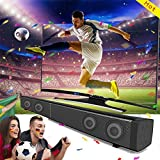 GIZEE Sound Bar Bluetooth Speaker 4.0 Wired and Wireless Bluetooth Streaming TV Soundbar Audio 31.5 Inch 40W Built-In Subwoofer Remote Control (Black)
