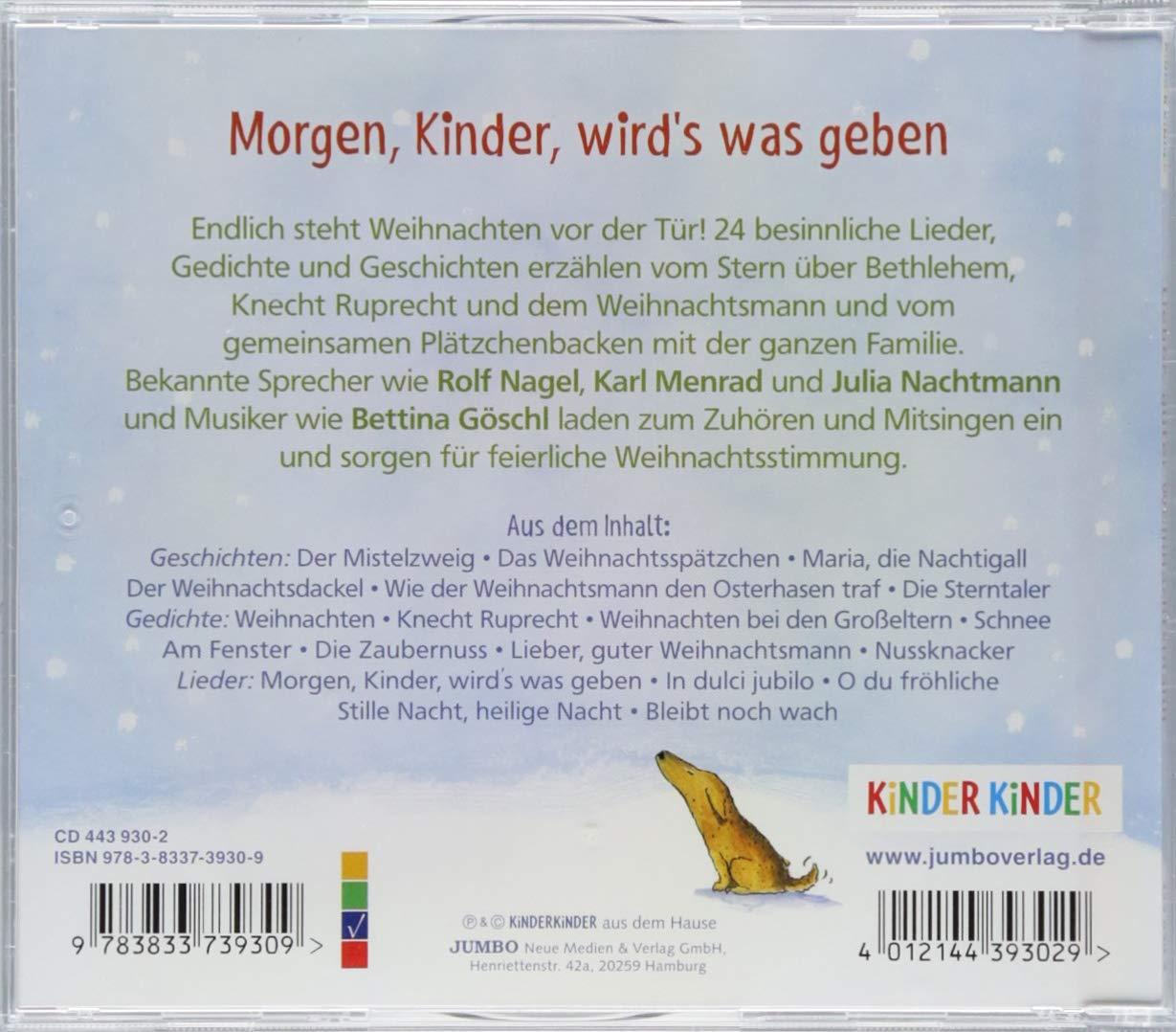 Lieber, guter Weihnachtsmann: Die 24 schönsten Lieder, Gedichte und ...