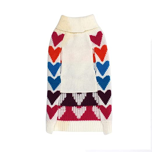 Amazon.com : BingYELH Dog Cat Pullover Sweater with Valentine Heart, Puppy Kitten Knitwear Coat Costume Apparel Clothes for Dogs Cats : Pet Supplies